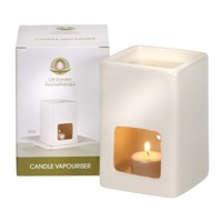 Oil Garden Candle Vaporiser - White